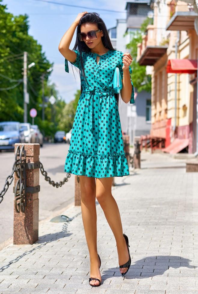 Платье Мила бирюзовый