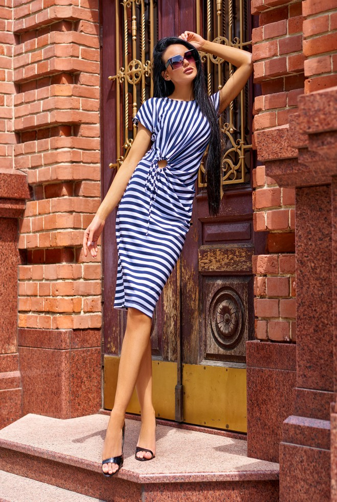 Платье Даяна тёмно-синий Жадон