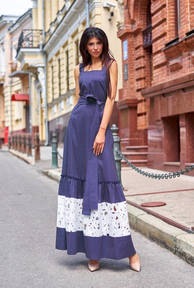 Платье Симона тёмно-синий