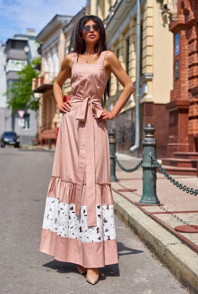 Платье Симона бежевый
