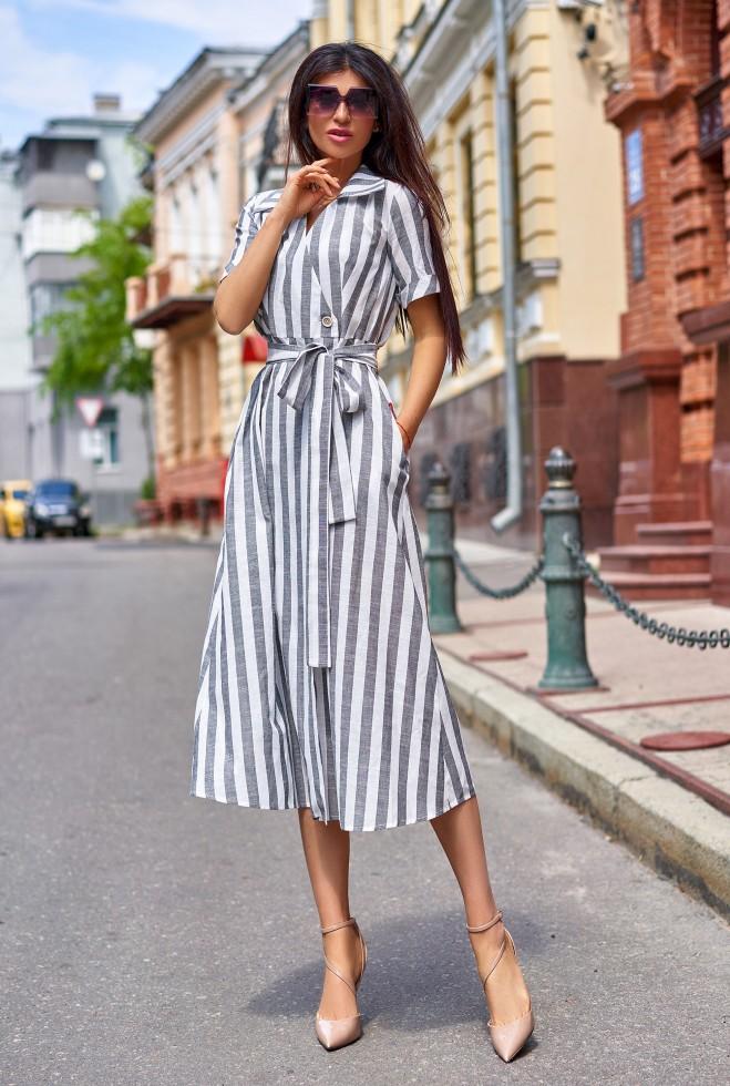 Платье Дина серый