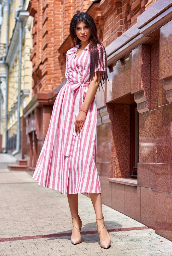 Платье Дина красный