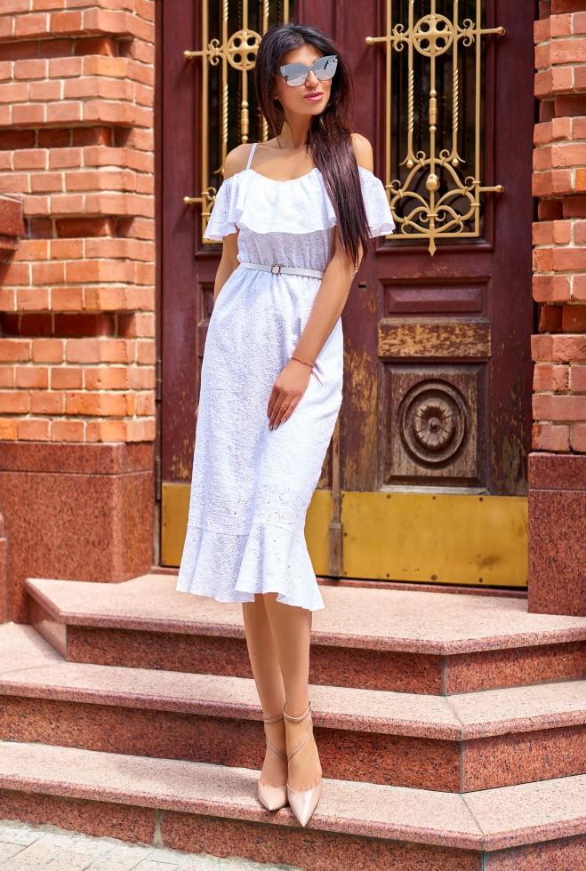 Платье Клео без ремня белый