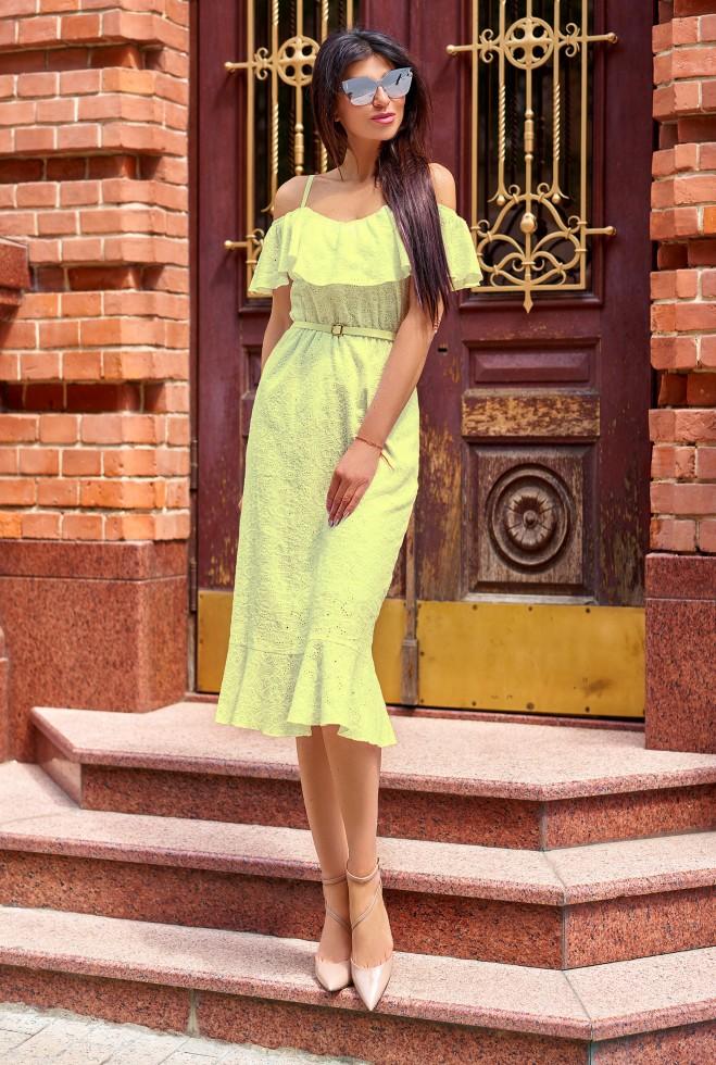 Платье Клео без ремня жёлтый