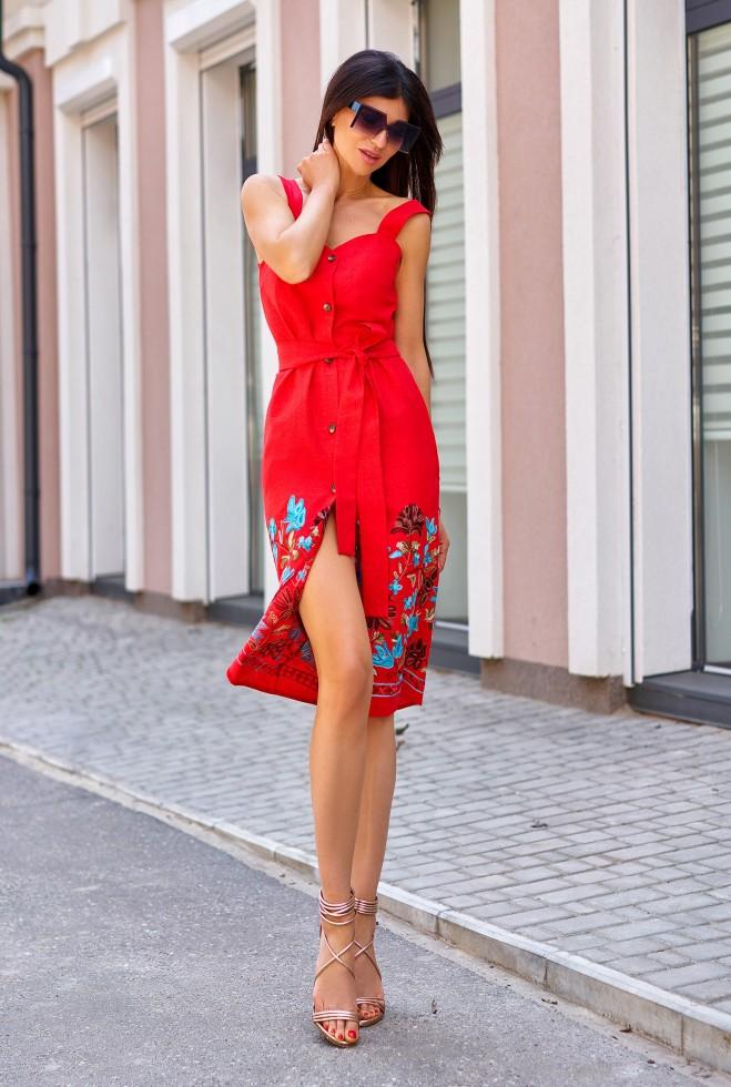 Платье Салли красный