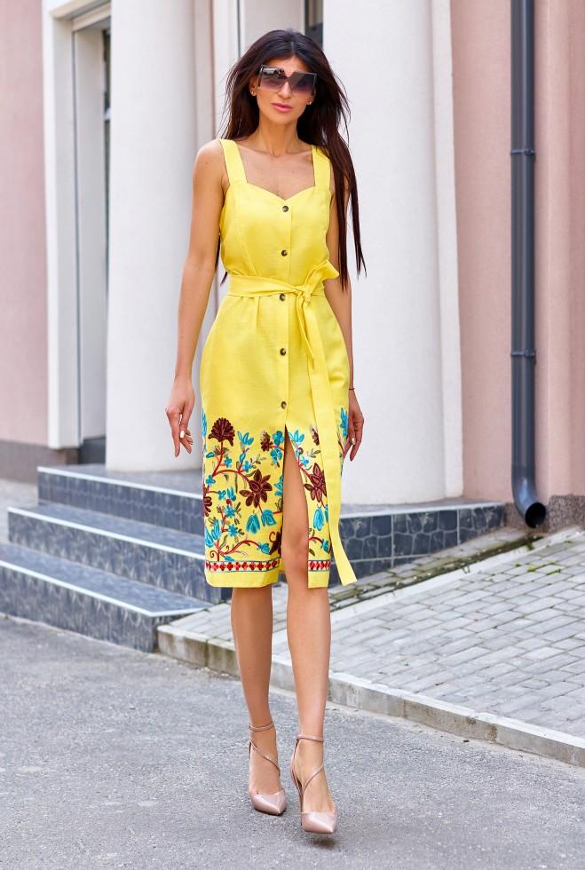 Платье Салли жёлтый