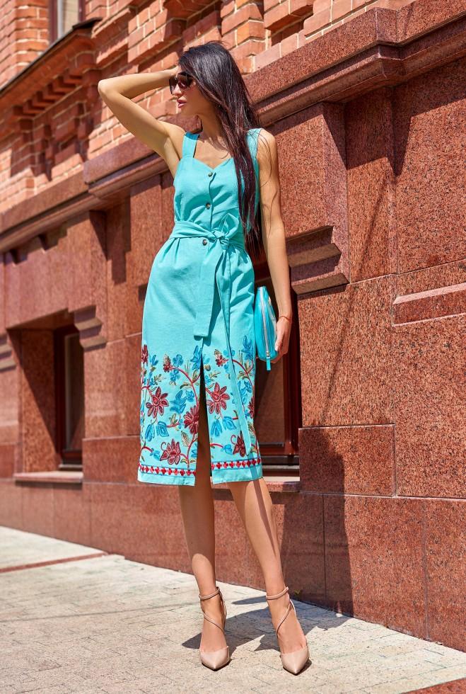 Платье Салли бирюзовый