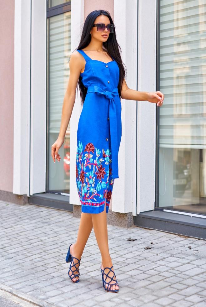 Платье Салли электрик