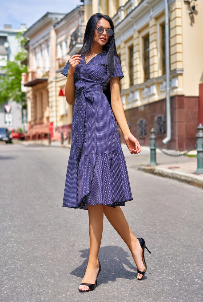 Платье Люси  тёмно-синий