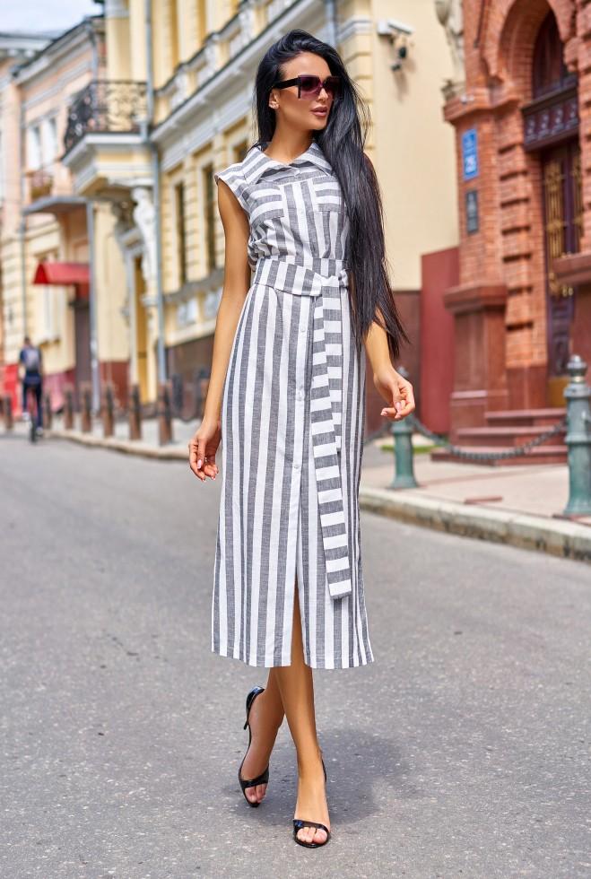 Платье Ким серый