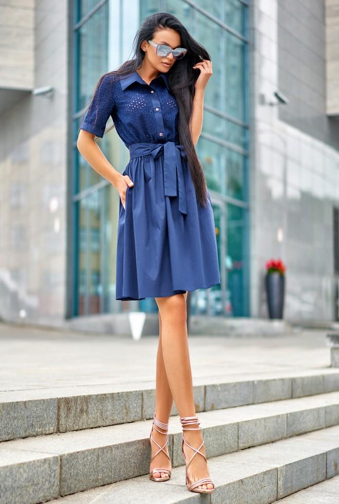 Платье Грета тёмно-синий