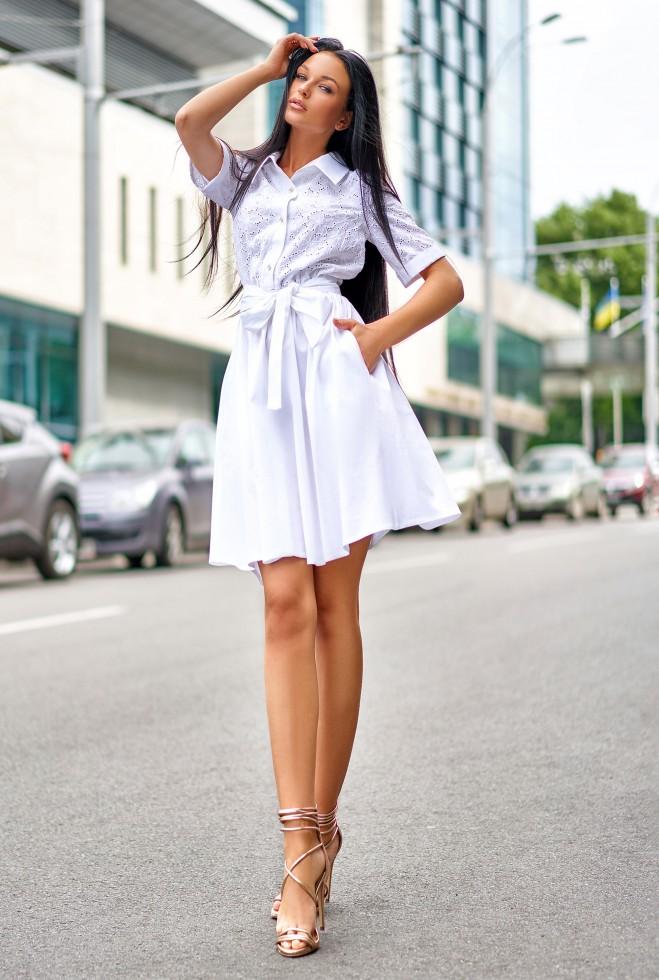 Платье Грета белый