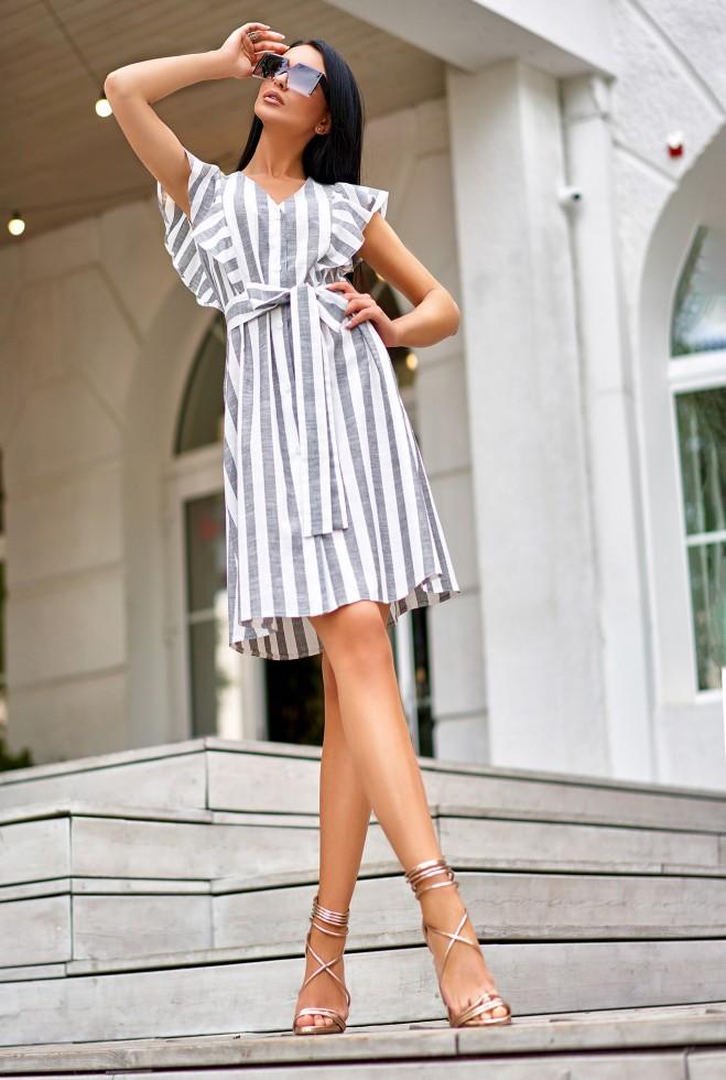 Платье Тая серый