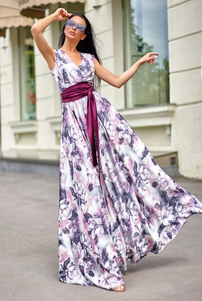 Платье Ивет лиловый