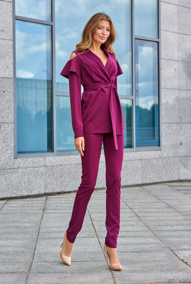 Брючный костюм Стефани марсала
