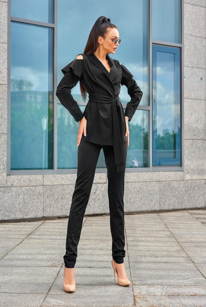 Брючный костюм Стефани черный