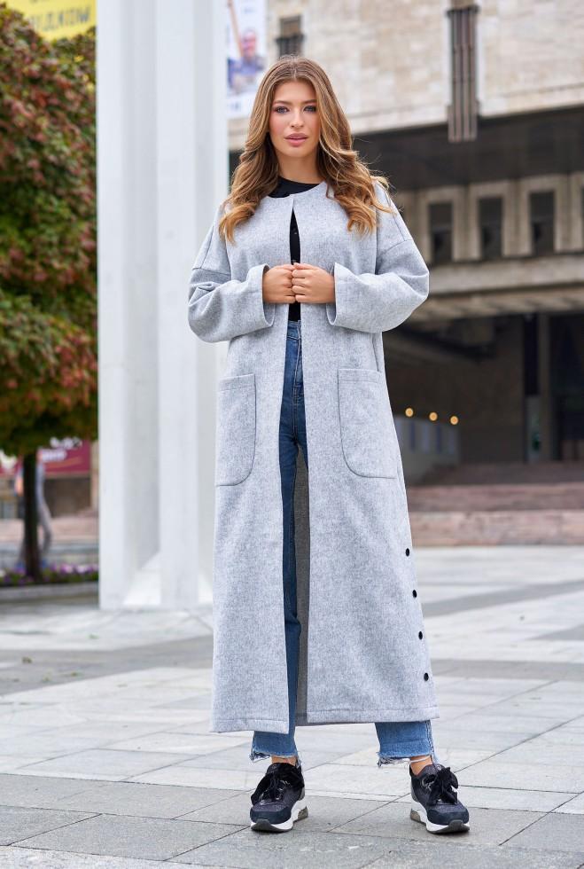 Облегченное пальто Мириам серый Жадон