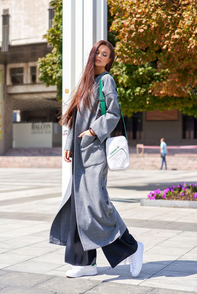 Облегченное пальто Мириам тёмно-серый Жадон