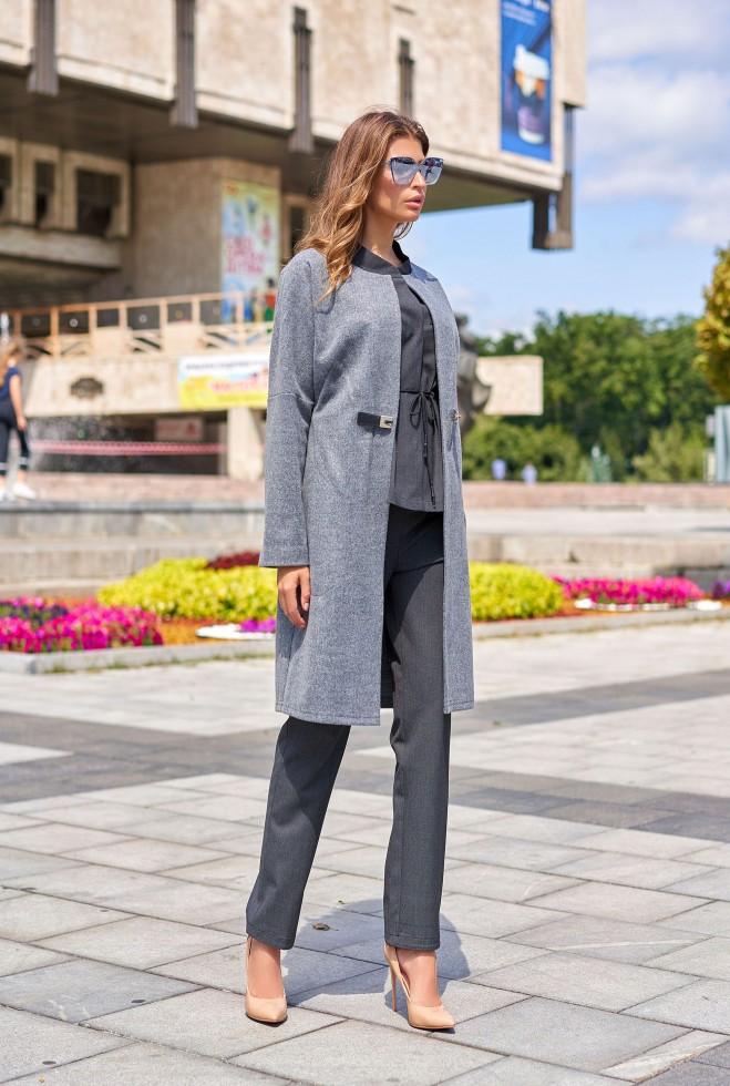 Облегченное пальто Джесси тёмно-серый