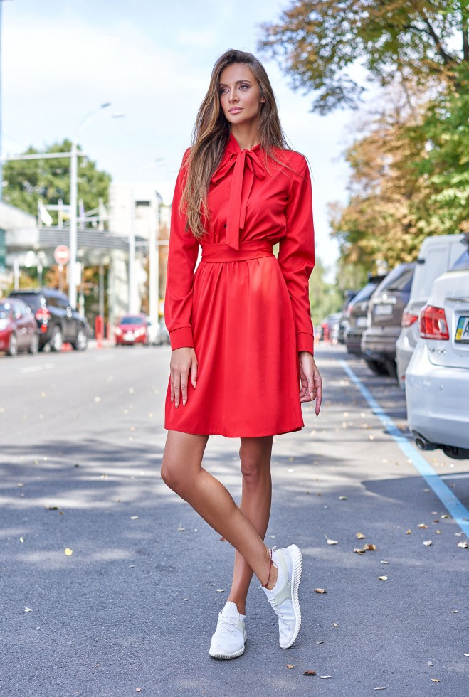Платье Лалли красный