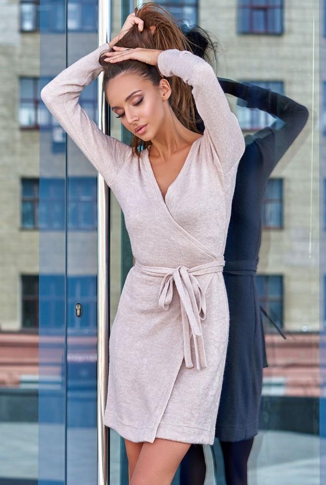 Платье Меган бежевый