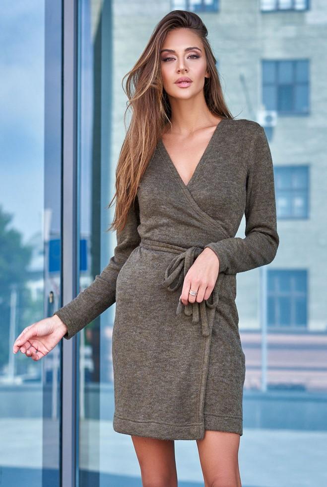 Платье Меган хаки Жадон