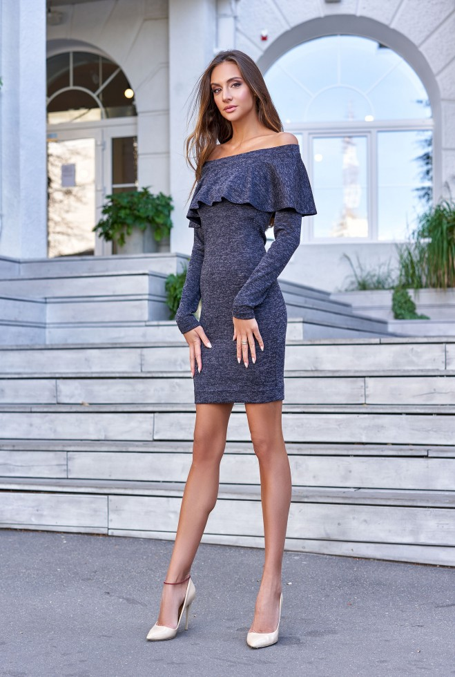 Платье Мика тёмно-синий
