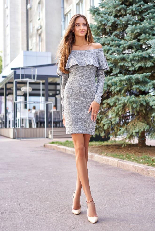 Платье Мика серый