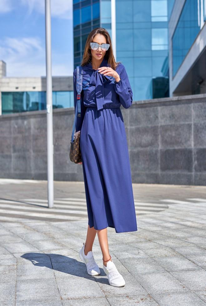 Платье Алиша тёмно-синий