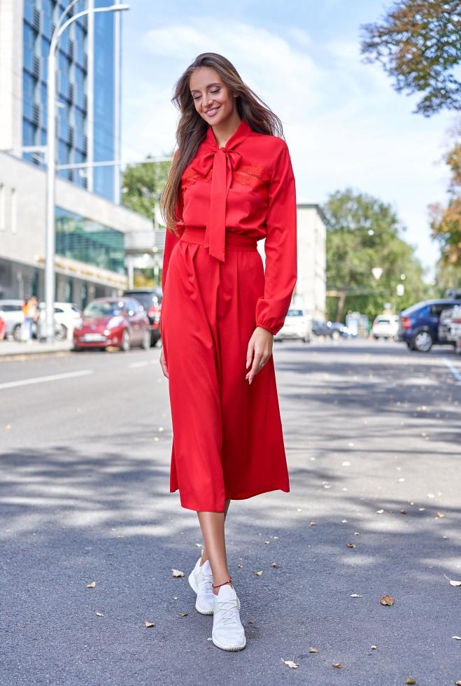Платье Алиша красный