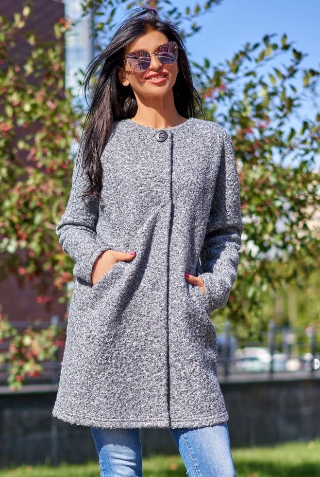 Облегченное пальто Верона серый меланж