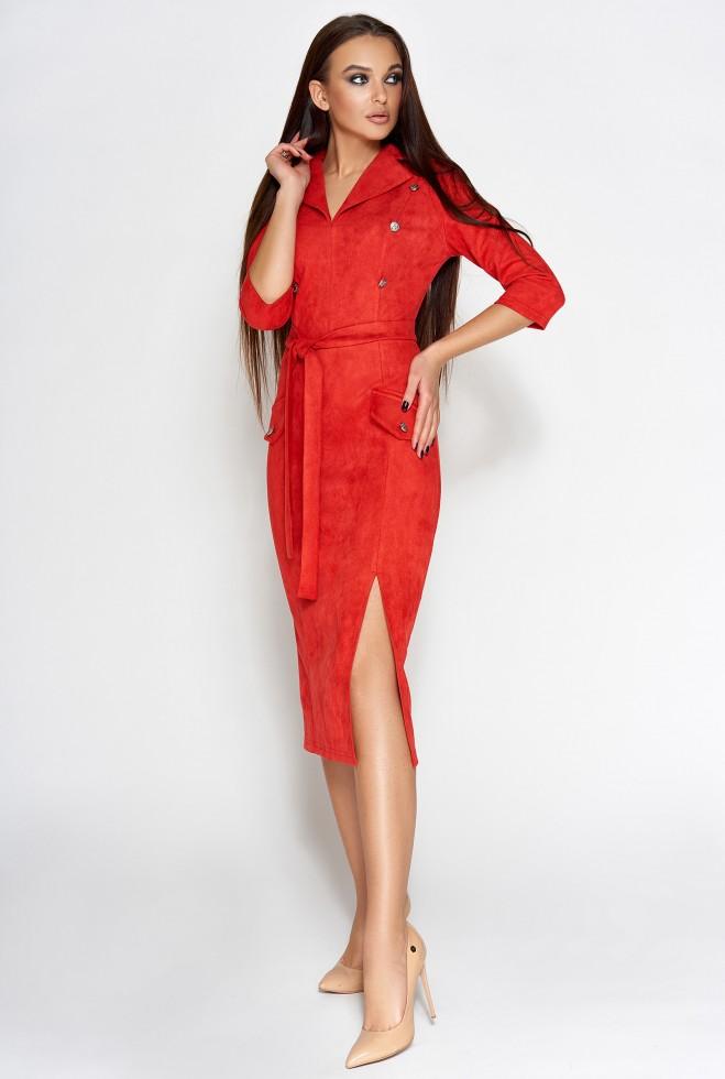 Платье Диана красный