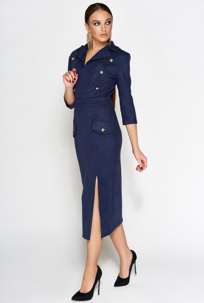 Платье Диана тёмно-синий