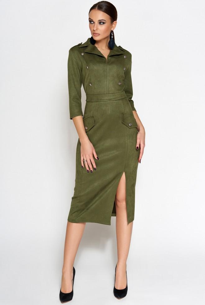 Платье Диана хаки