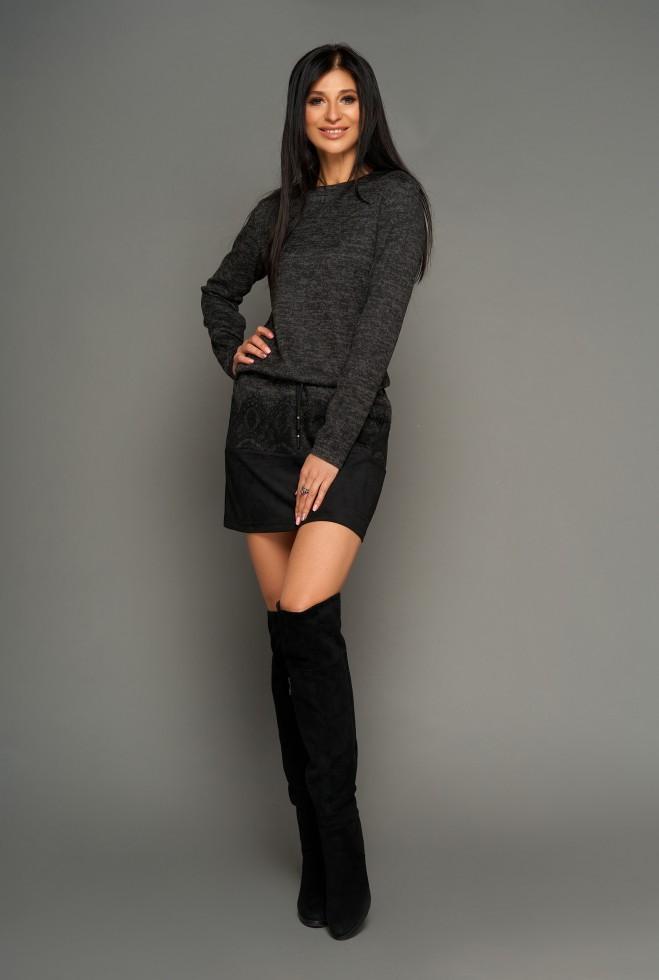 Платье-туника Раби черный