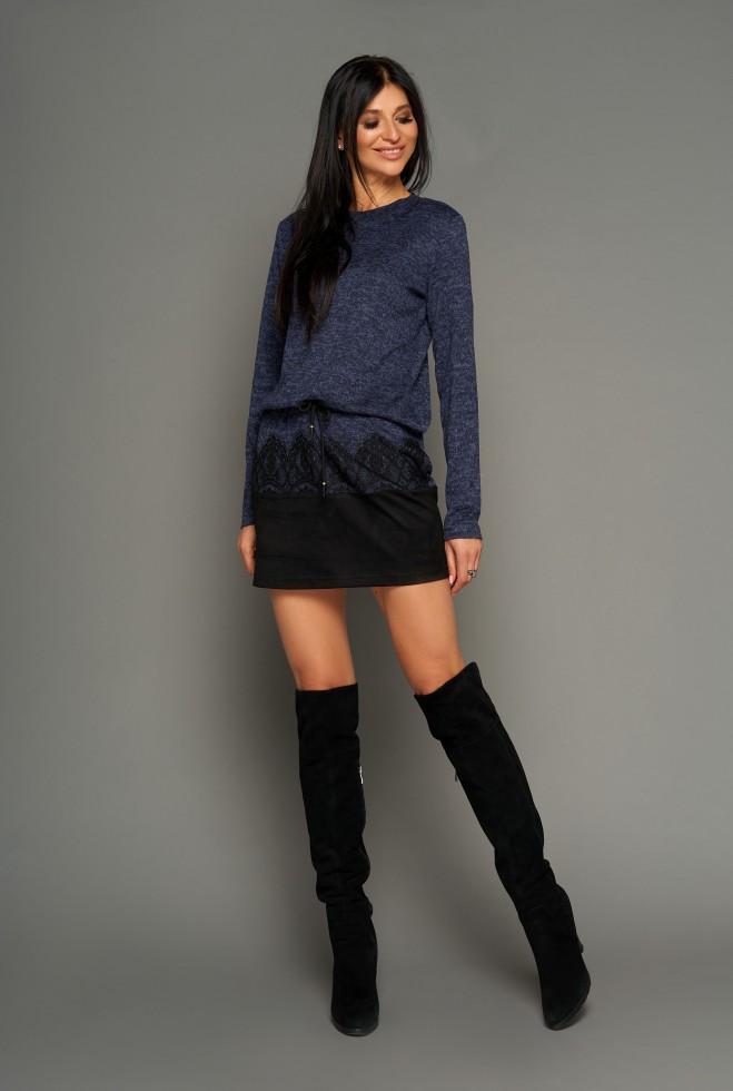 Платье-туника Раби тёмно-синий
