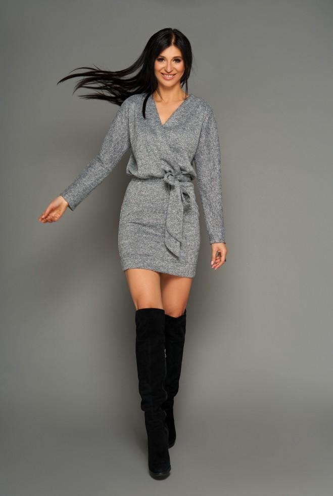 Платье Эльза серый Жадон