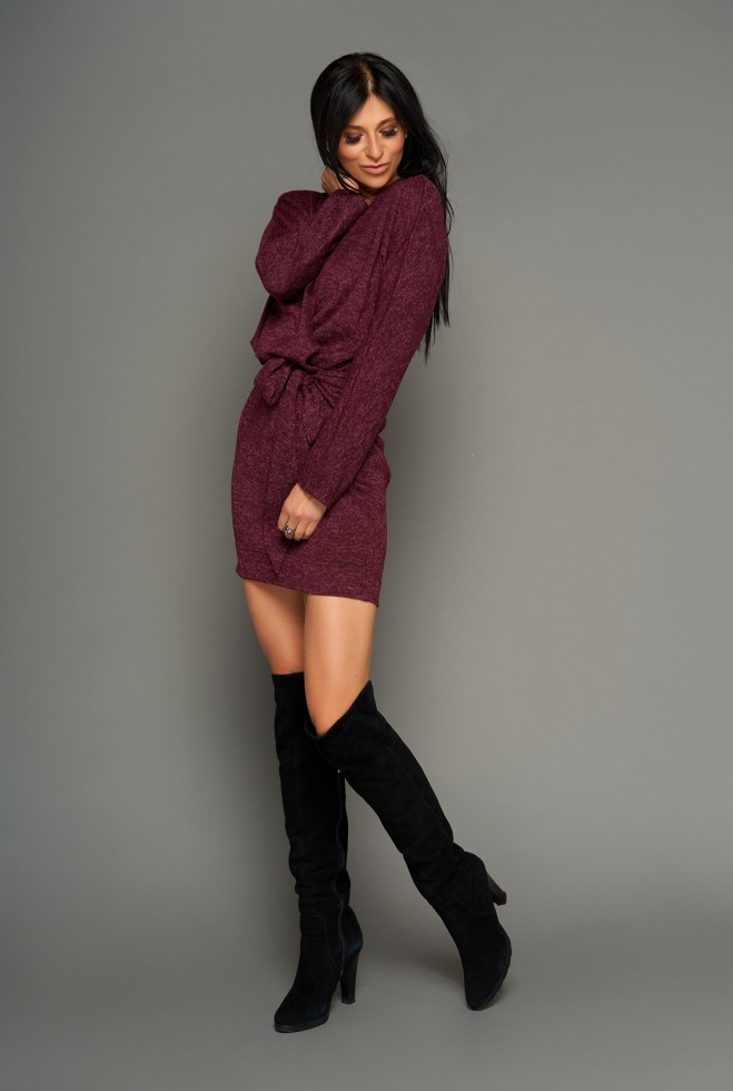 Платье Эльза бордовый Жадон