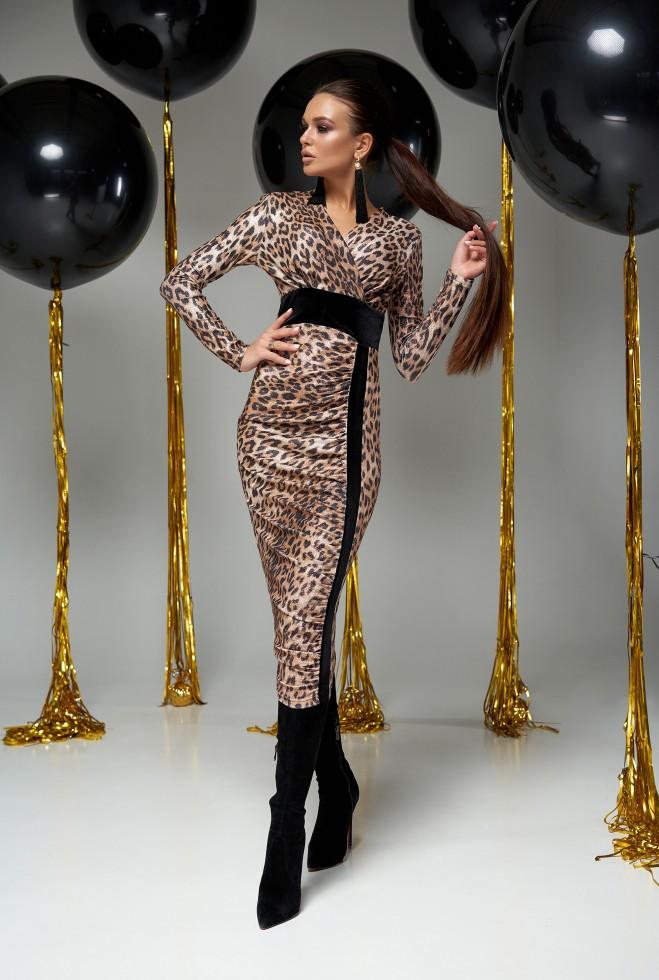 Платье Сильвия коричневый