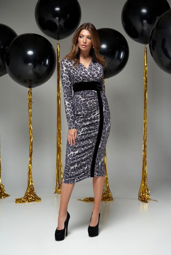 Платье Сильвия серый