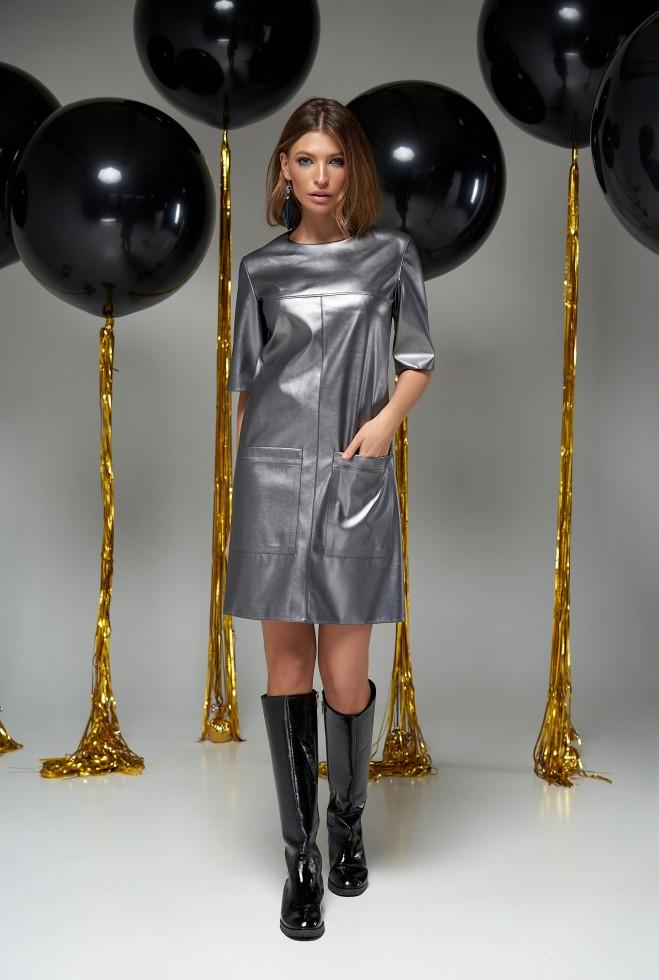 Платье Брук стальной
