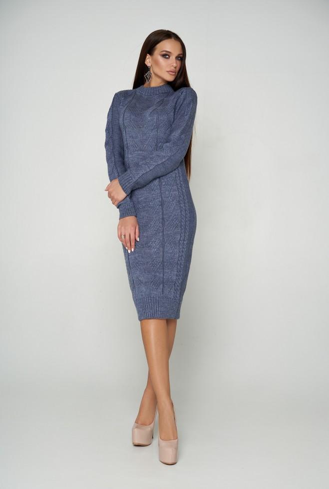 Платье вязаное Кемер 07 джинс
