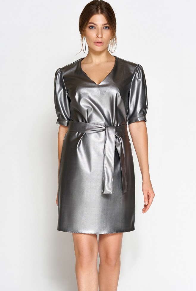 Платье Марта стальной