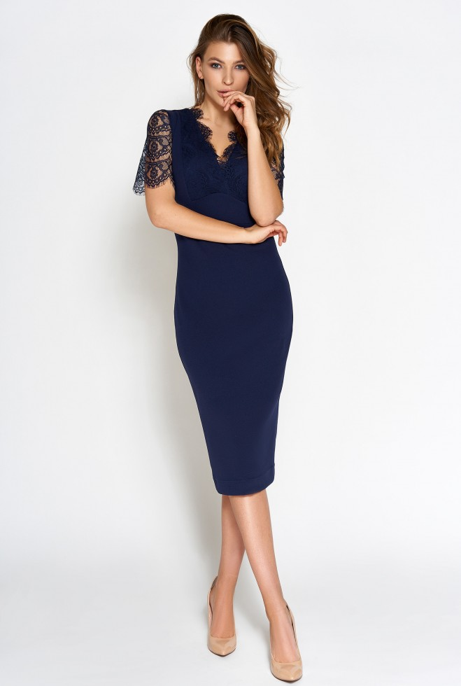 Платье Менди тёмно-синий