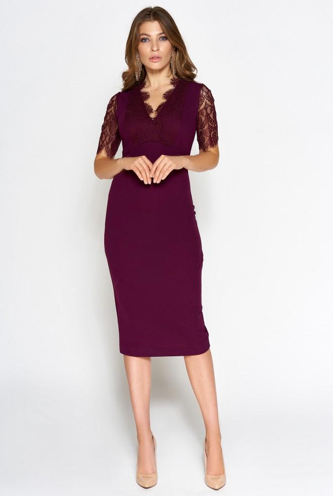 Платье Менди марсала