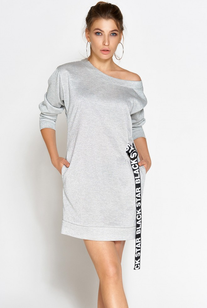 Платье-туника Эстер серебро Жадон