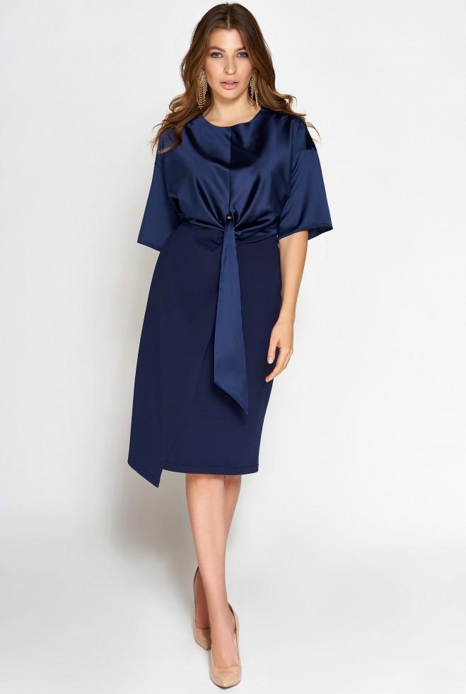 Платье Этель тёмно-синий