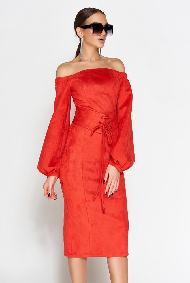 Платье Кристал красный