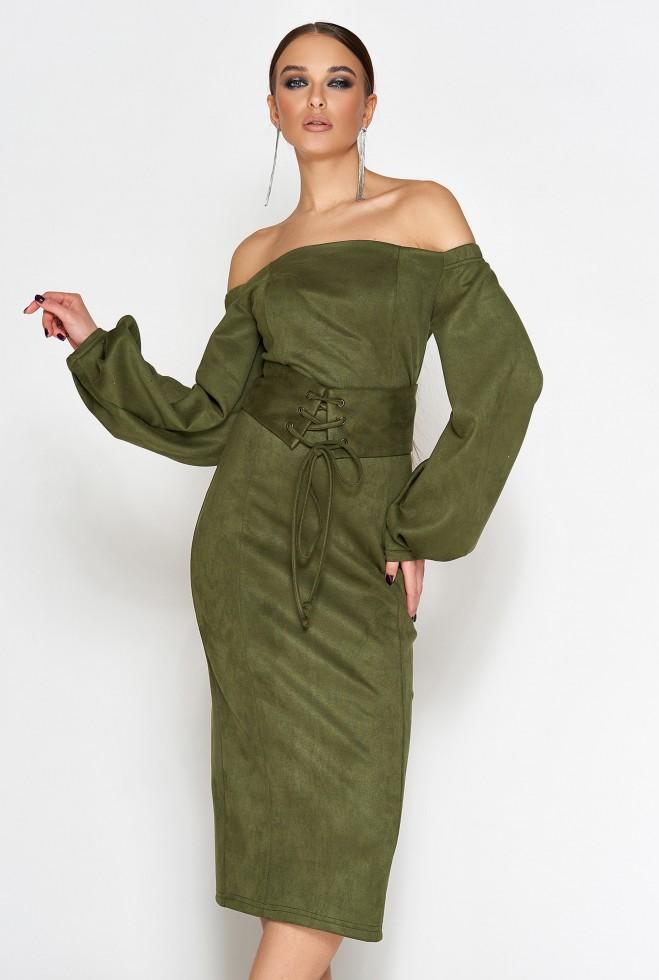 Платье Кристал хаки