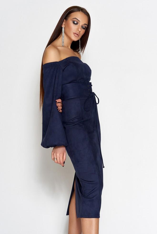 Платье Кристал тёмно-синий